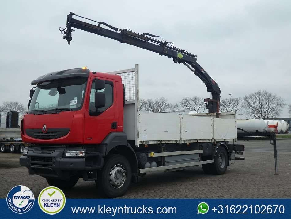 RENAULT KERAX 380 hiab122bs2 remote open laadbak vrachtwagen - Photo 1