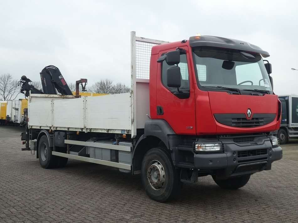 RENAULT KERAX 380 hiab122bs2 remote open laadbak vrachtwagen - Photo 3